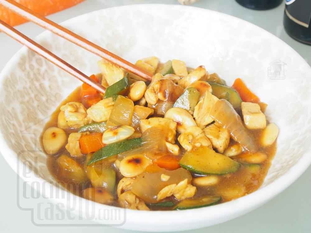 Pollo con almendras al estilo chino - Paso 6