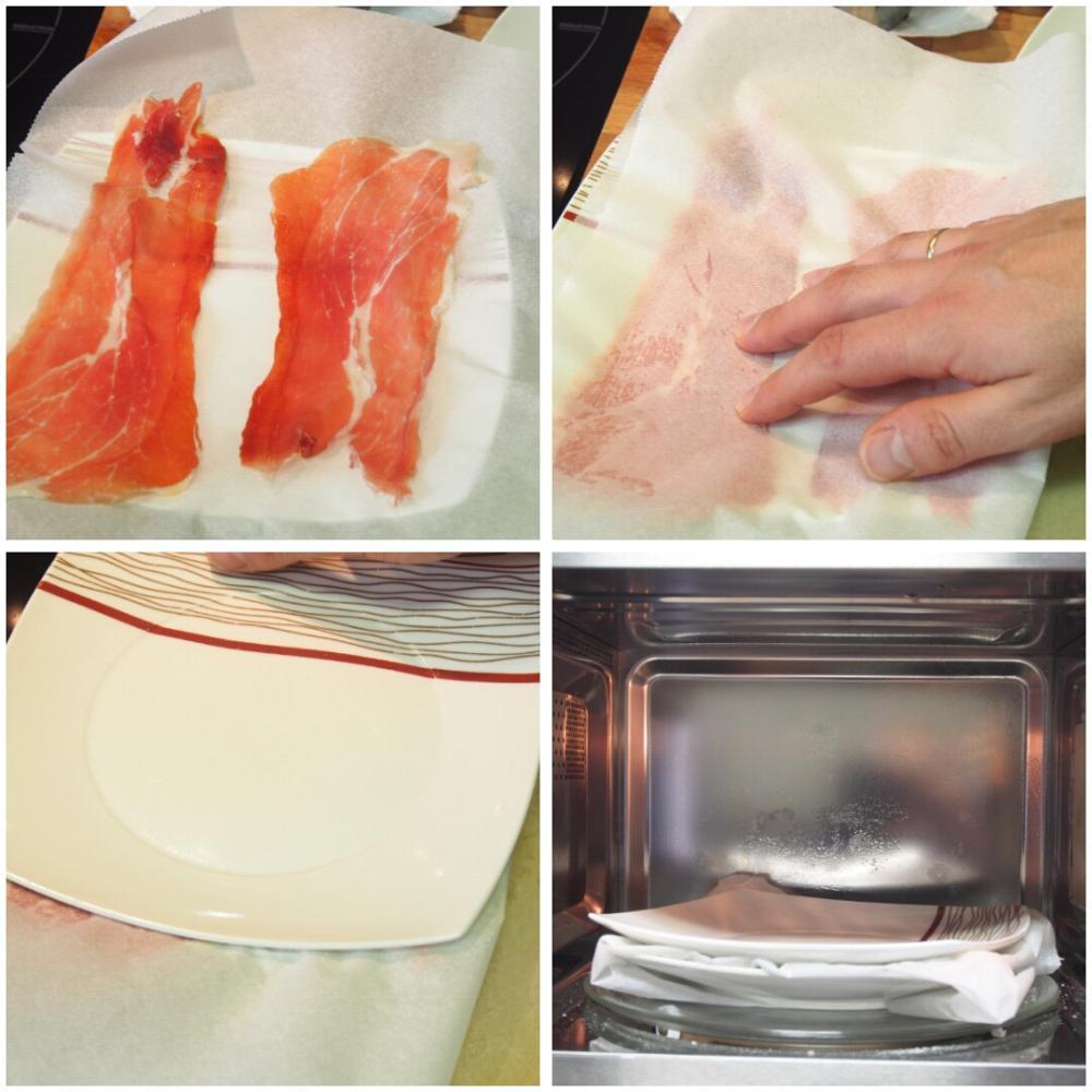 Cómo hacer crujiente de jamón serrano - Paso 1