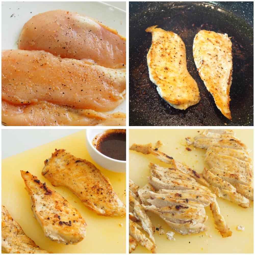 Ensalada César con pollo - Paso 2