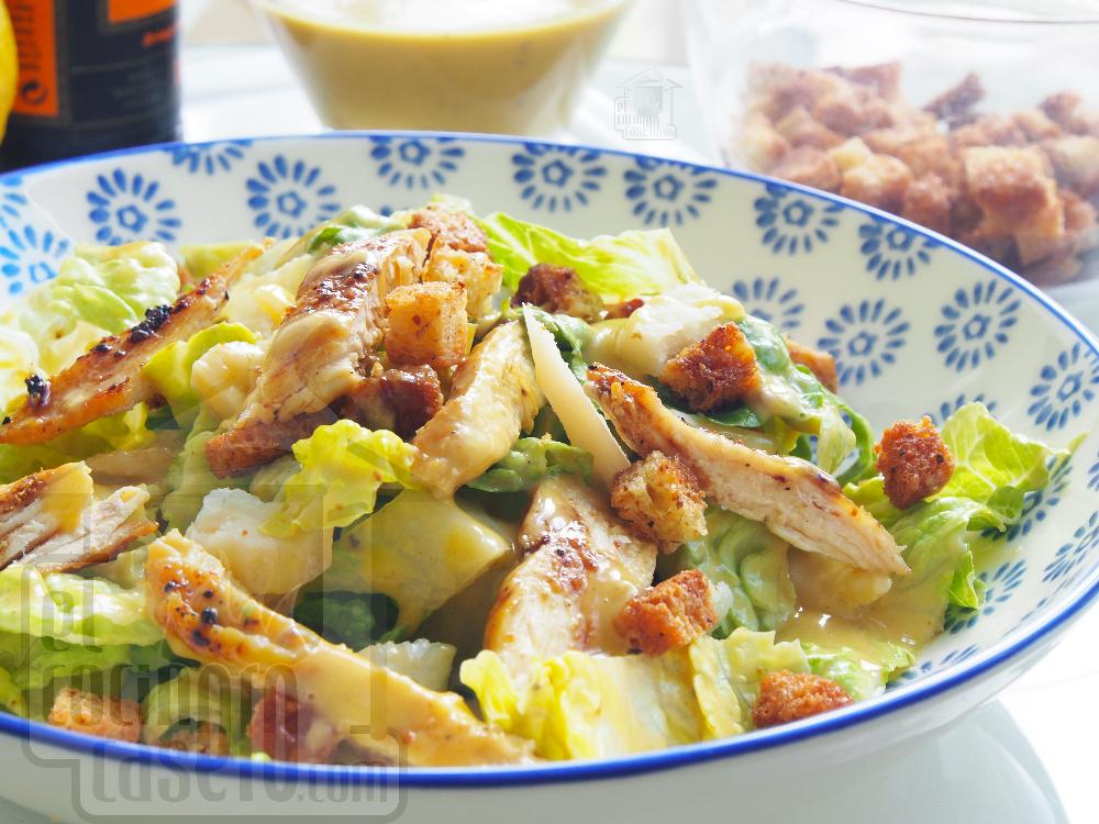 Ensalada César con pollo - Paso 5