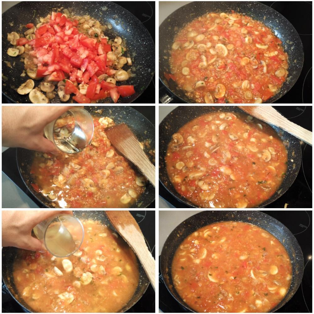 Filetes de ternera en salsa con champiñones - Paso 5
