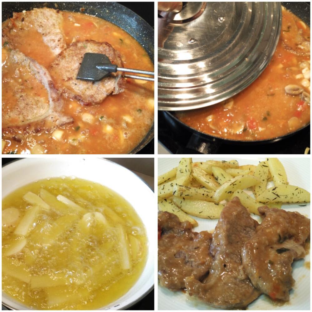 Filetes de ternera en salsa con champiñones - Paso 6