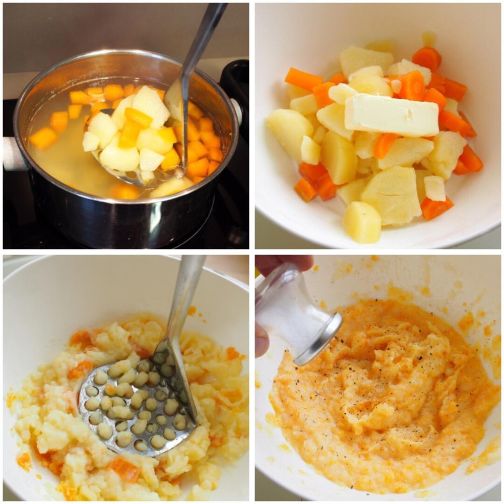 Puré de patata con zanahoria - Paso 3