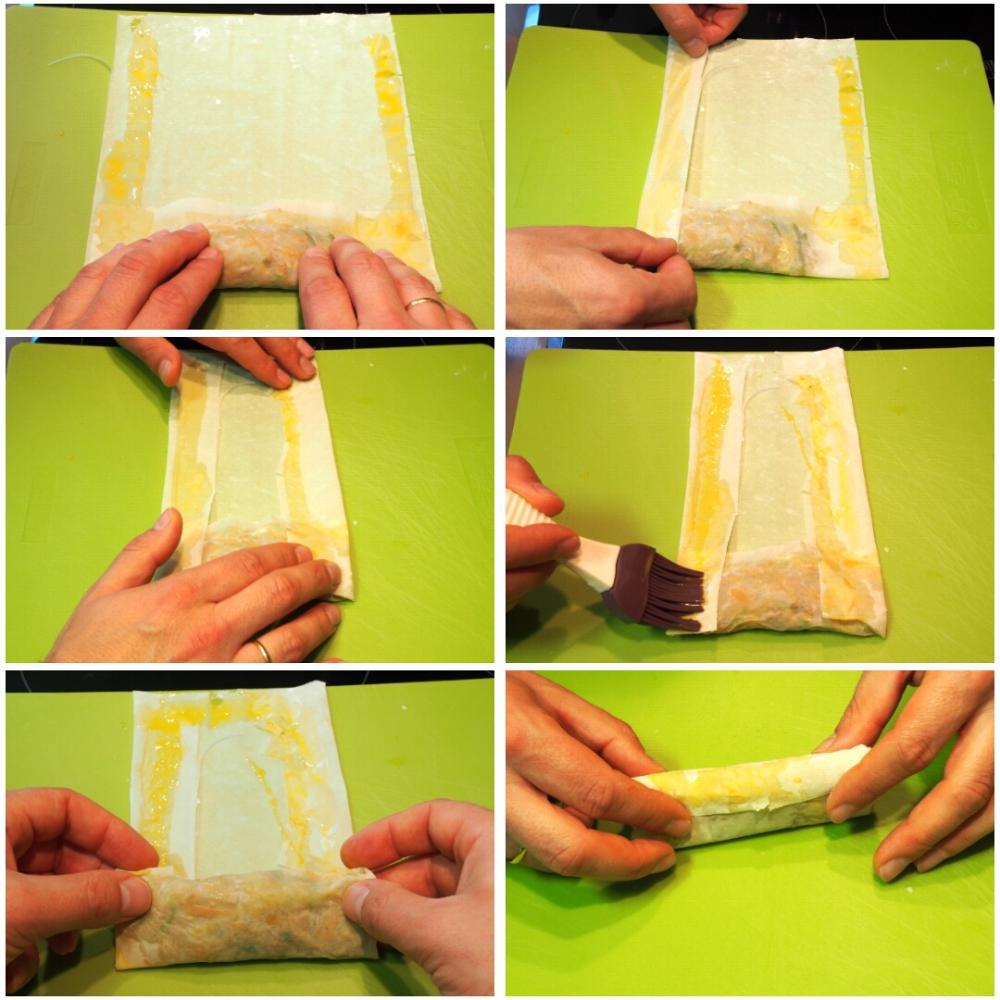 Cómo hacer rollitos de primavera chinos - Paso 6