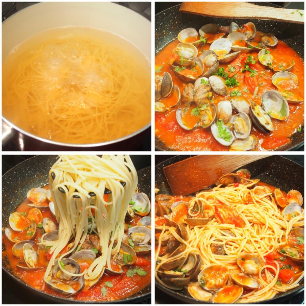 Spaghetti alle vongole - Paso 6