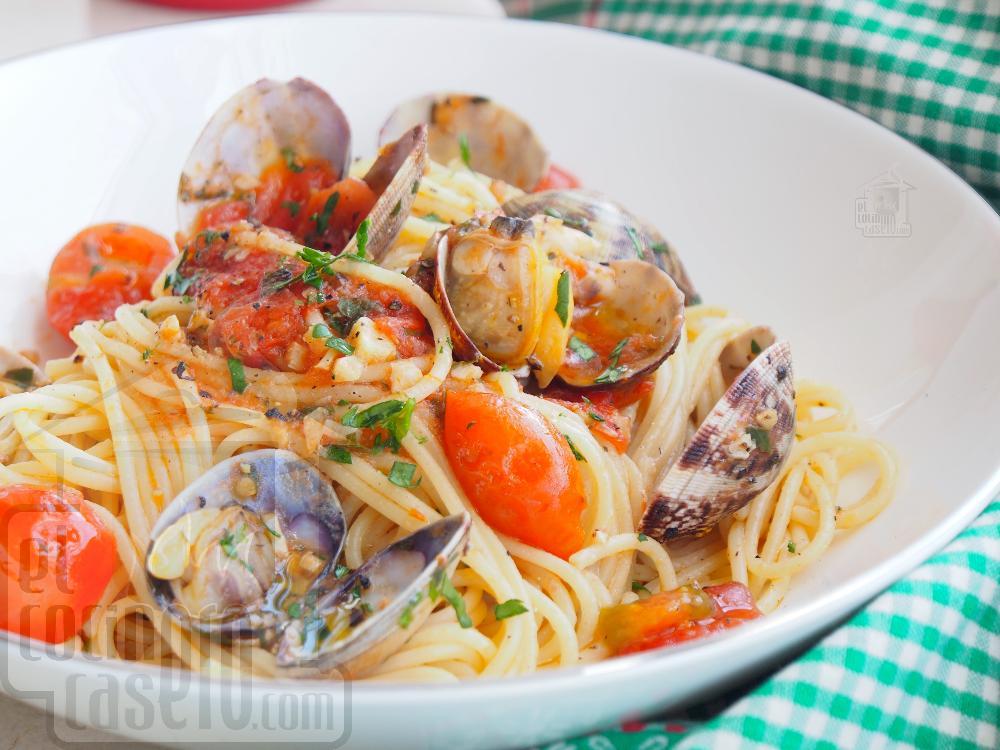 Spaghetti alle vongole - Paso 7