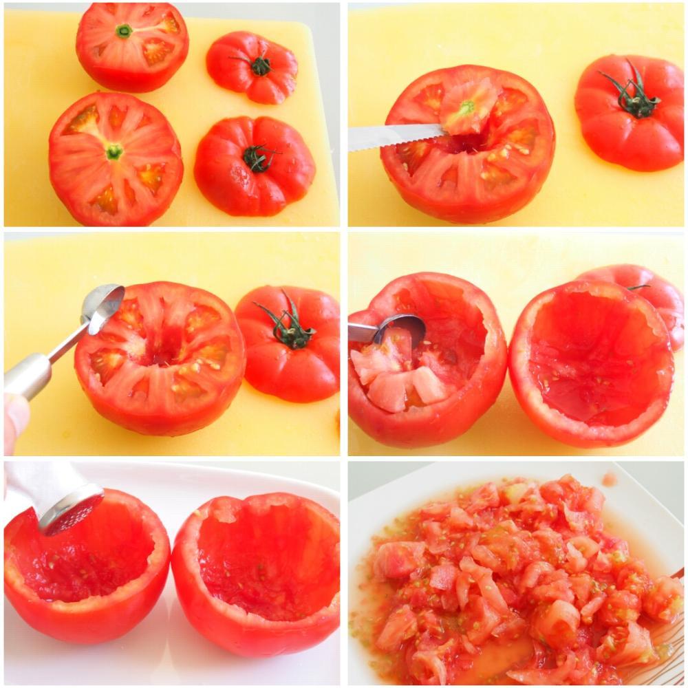 Tomates rellenos de atún y mayonesa - Paso 1