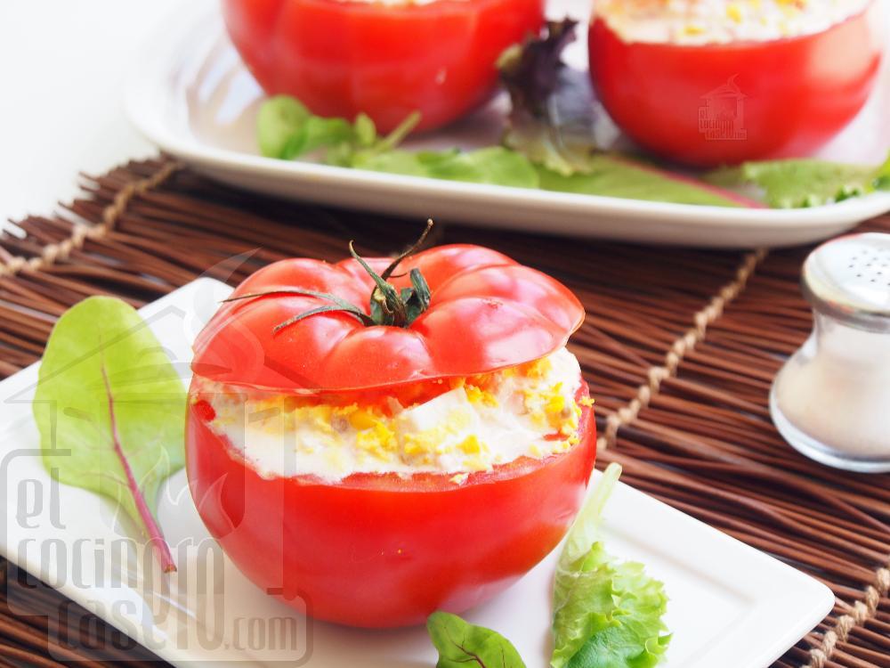 Tomates rellenos de atún y mayonesa - Paso 6