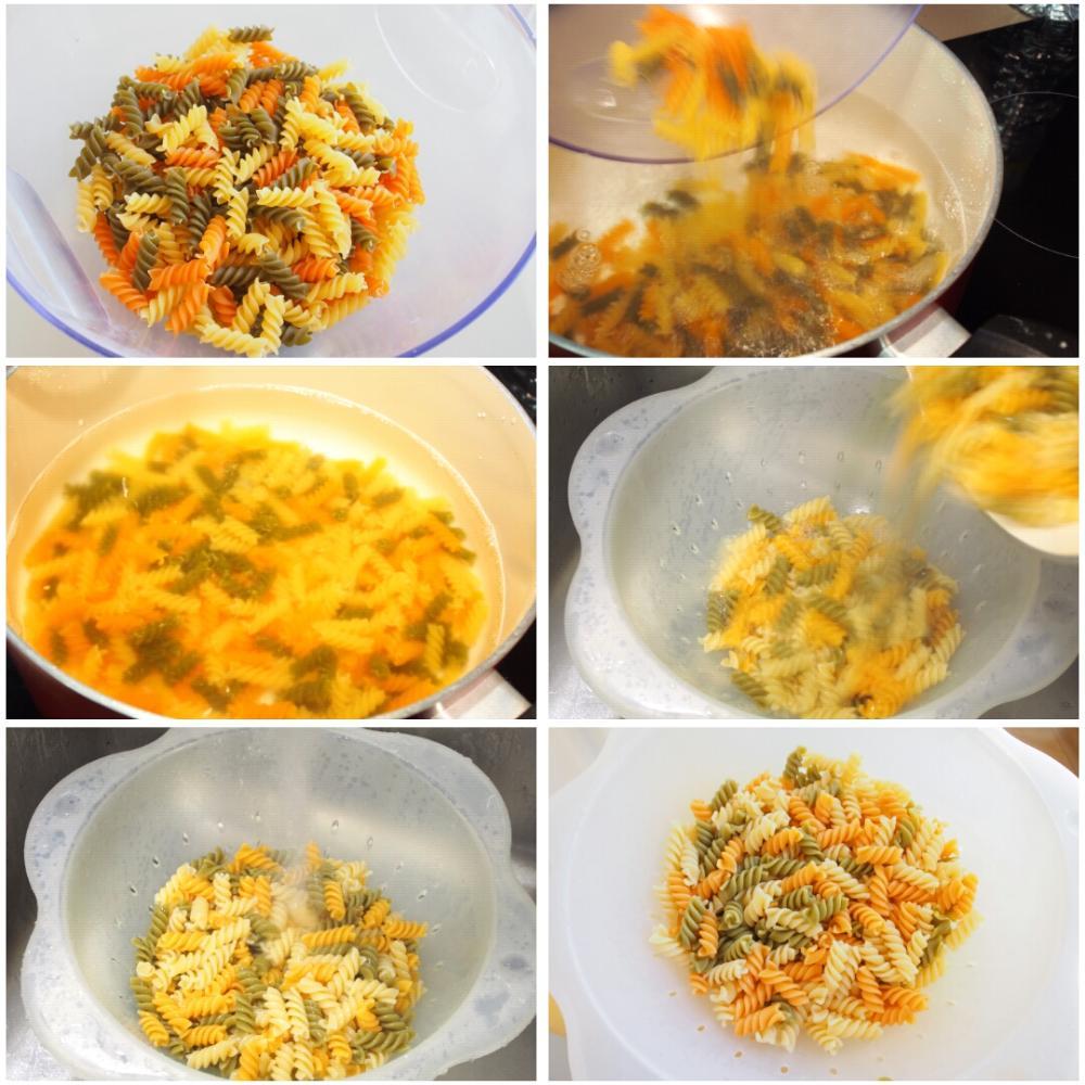 Ensalada de pasta fría con pollo - Paso 1