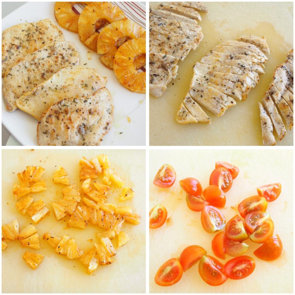 Ensalada de pasta fría con pollo - Paso 3