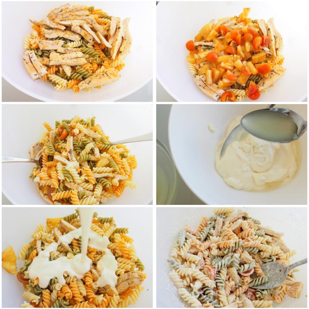 Ensalada de pasta fría con pollo - Paso 4