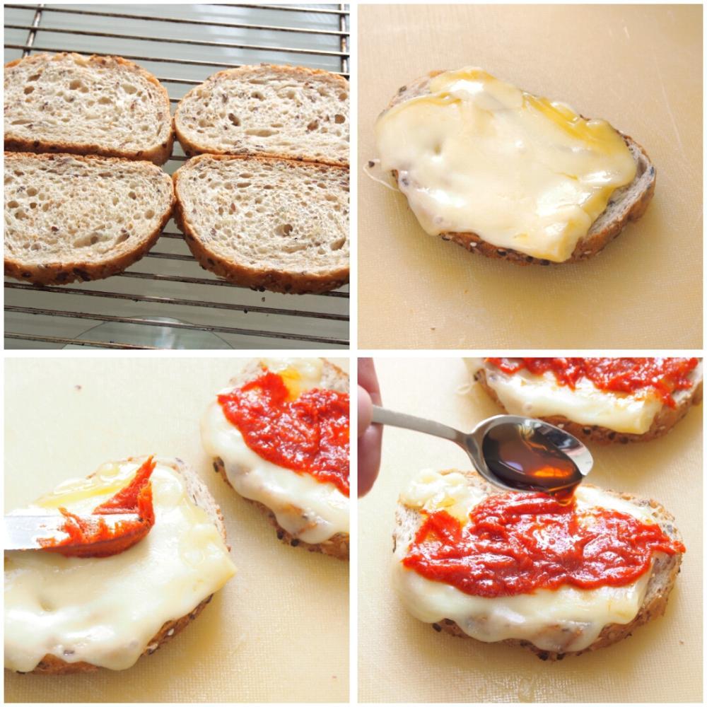 Tostas de sobrasada y huevo de codorniz - Paso 1