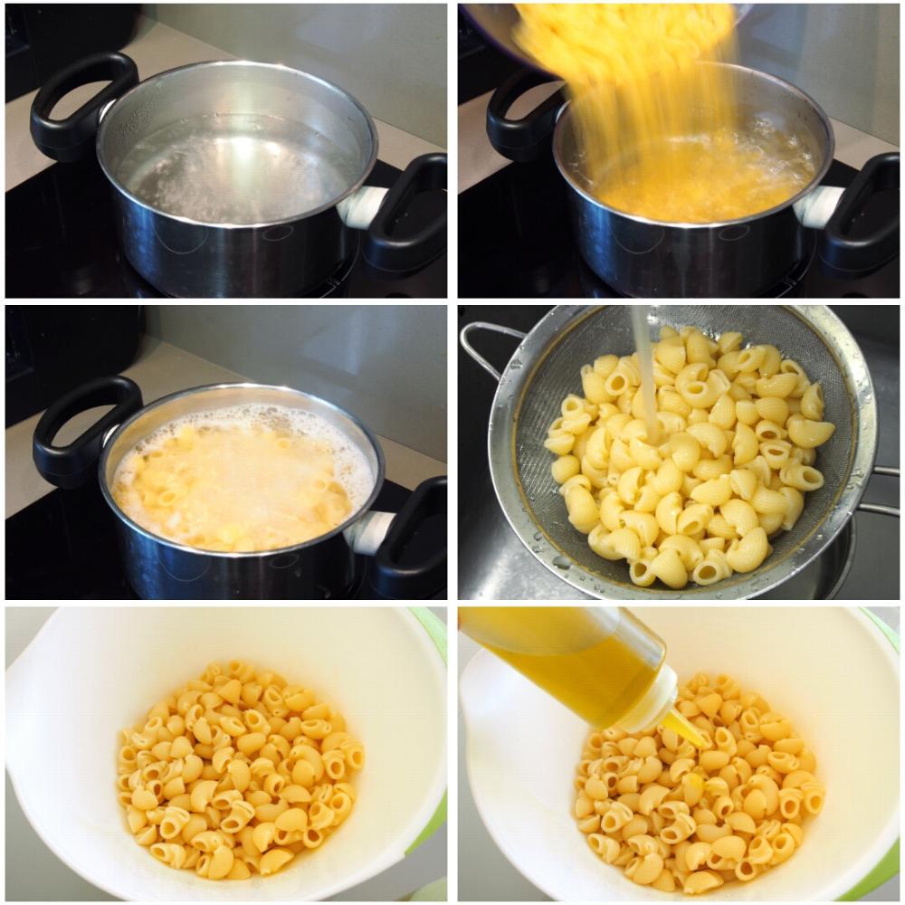 Ensalada de pasta Caprese - Paso 1
