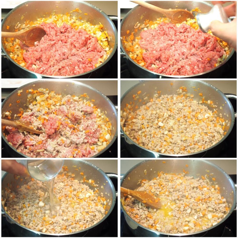 Cómo hacer lasaña de carne picada con bechamel - Paso 3