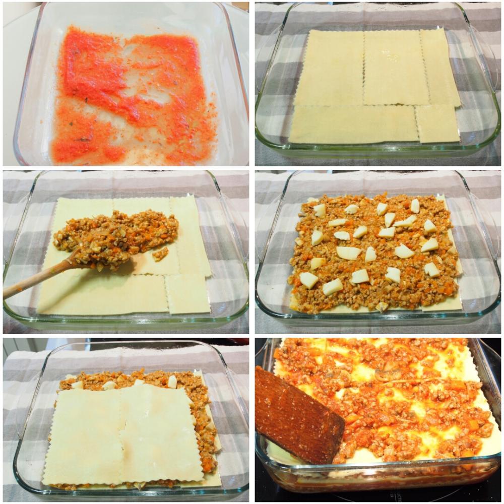 Cómo hacer lasaña de carne picada con bechamel - Paso 5