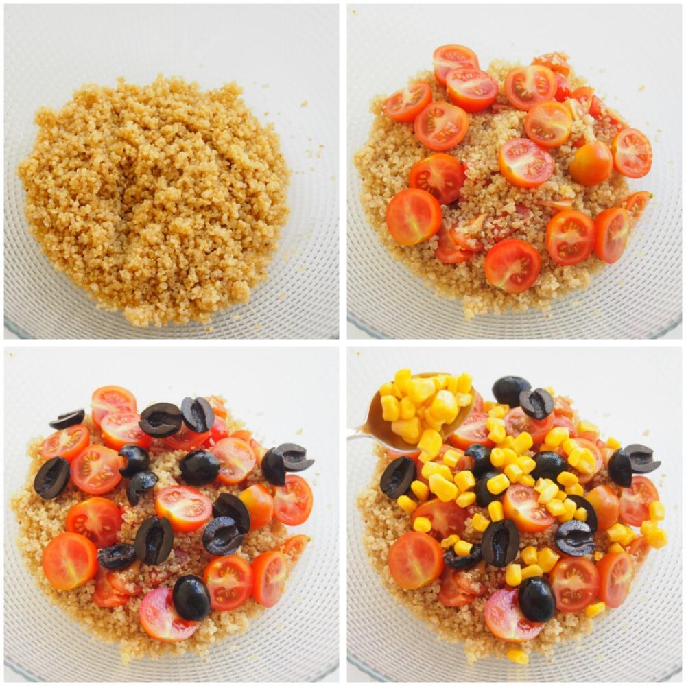 Ensalada de quinoa con aguacate y cherrys - Paso 3