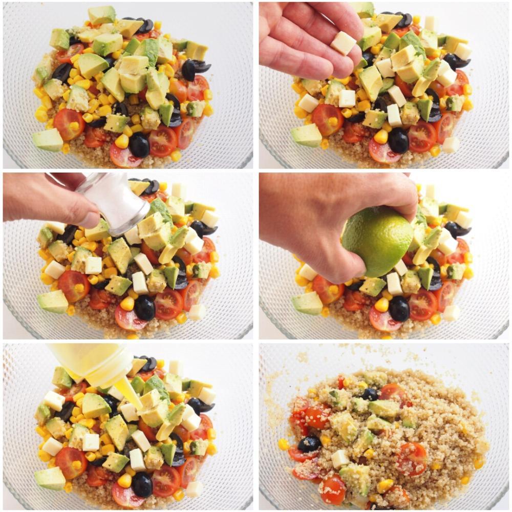 Ensalada de quinoa con aguacate y cherrys - Paso 4