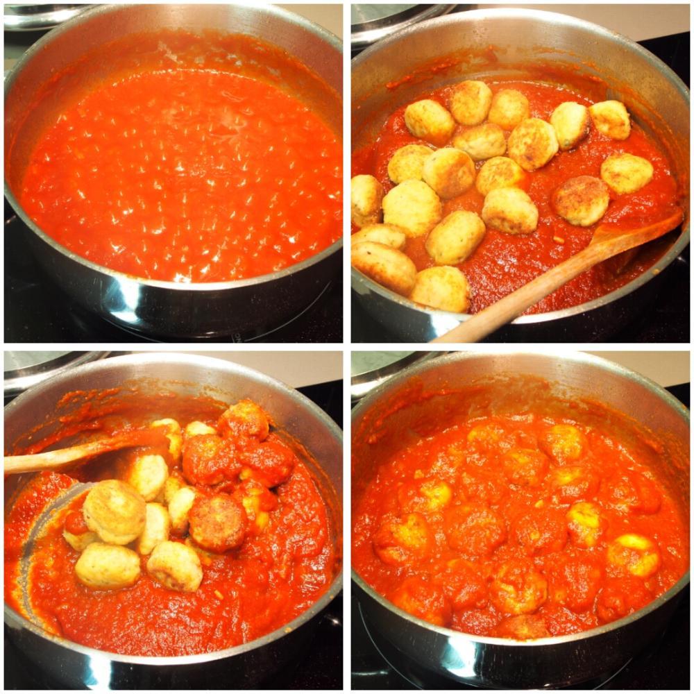 Albóndigas de pollo en salsa barbacoa - Paso 6