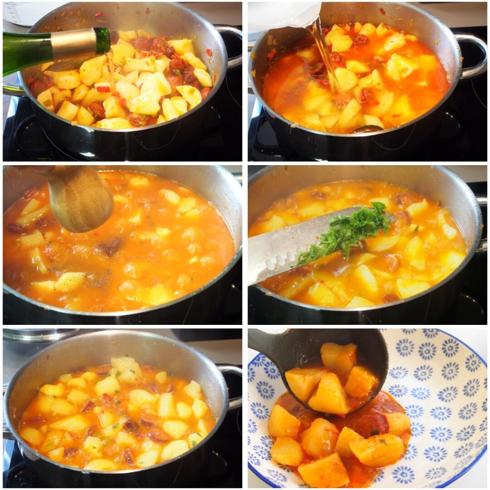 Patatas a la riojana - Paso 5