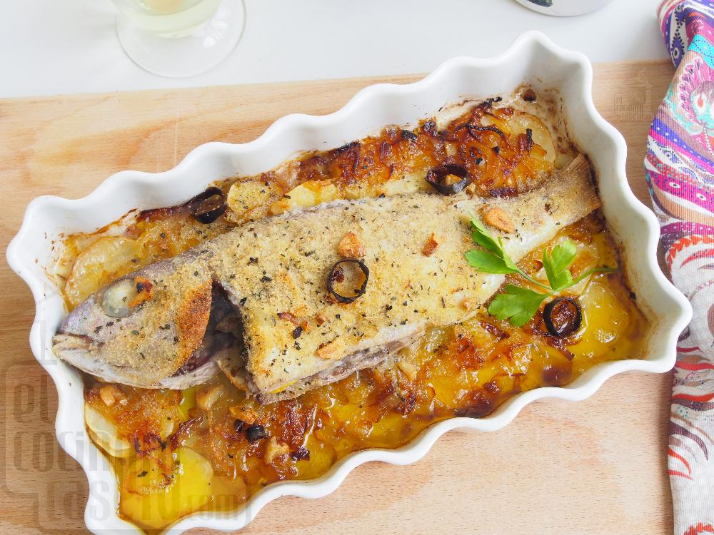 Besugo al horno con patatas - Paso 8