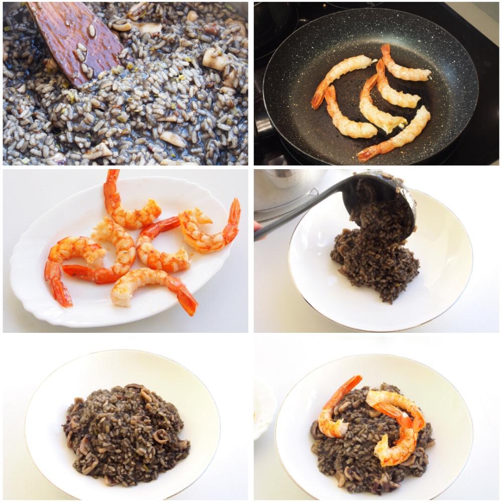Arroz negro con calamares - Paso 11