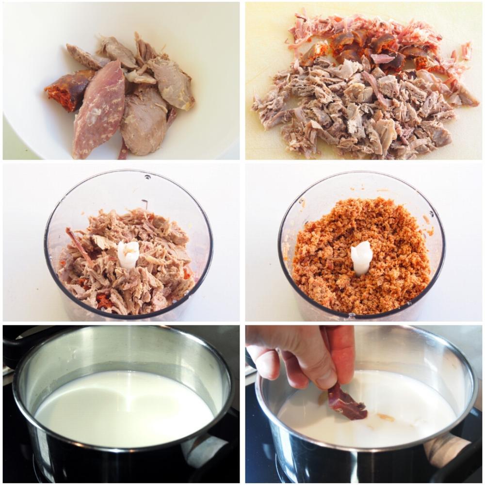 Croquetas de cocido - Paso 1
