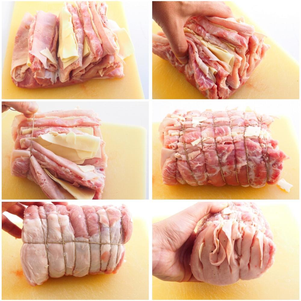 Lomo relleno de jamón y queso - Paso 3