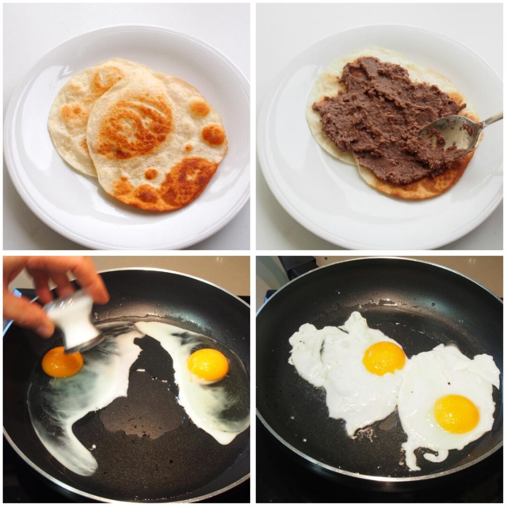 Huevos rancheros mexicanos - Paso 4
