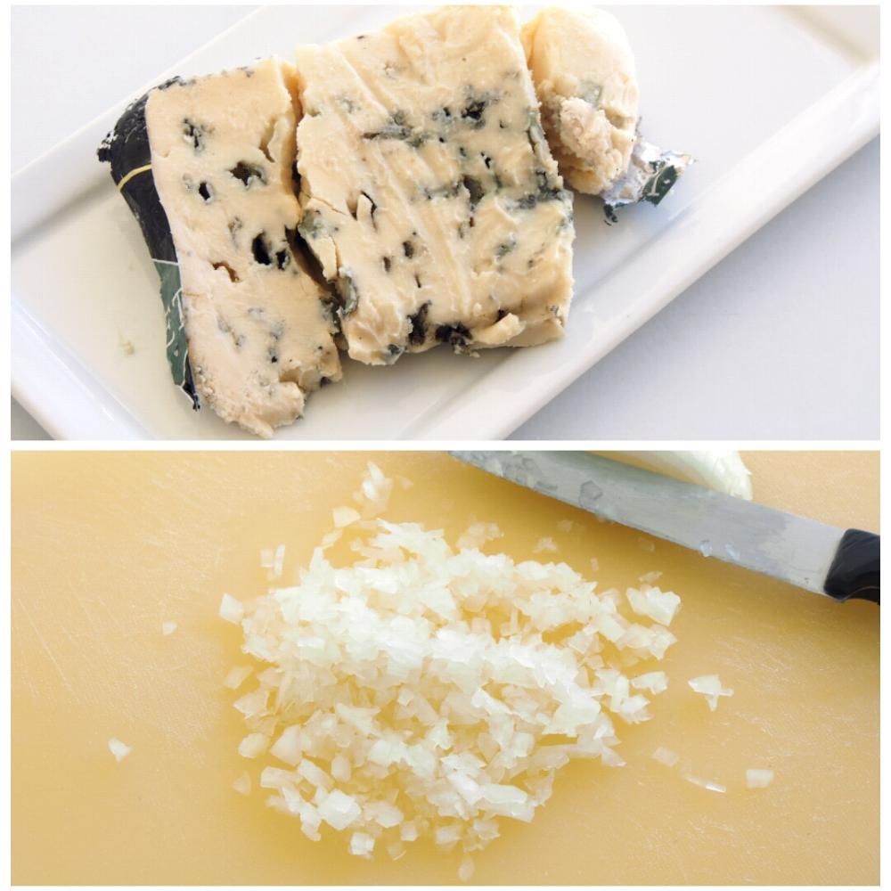 Salsa de queso azul  - Paso 1