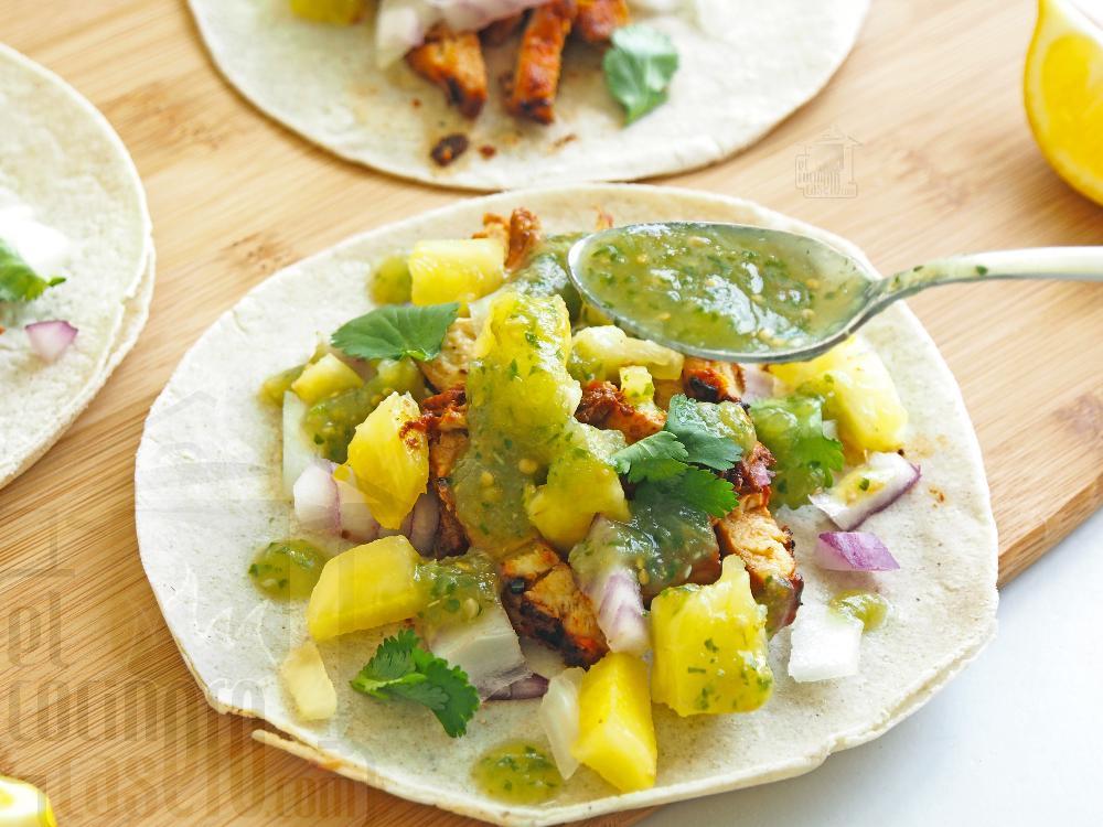 Salsa verde para tacos - Paso 7
