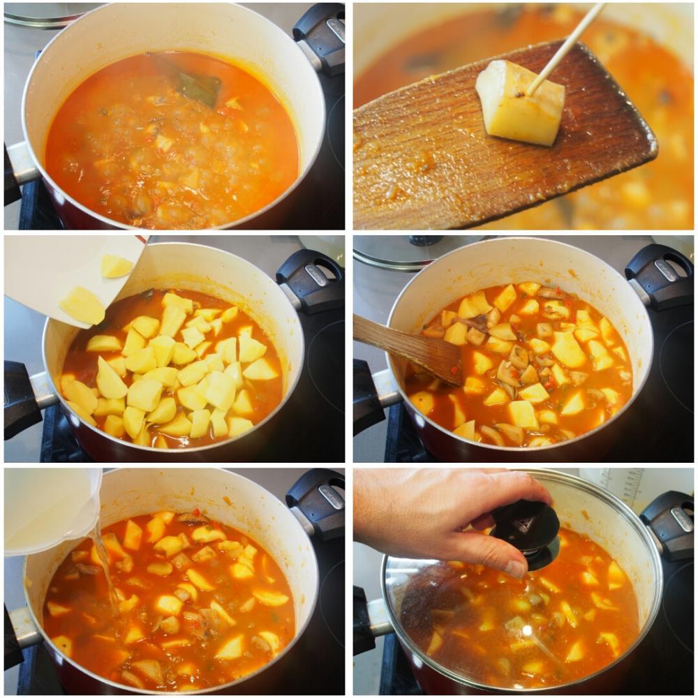 Guiso de chocos con patatas - Paso 7