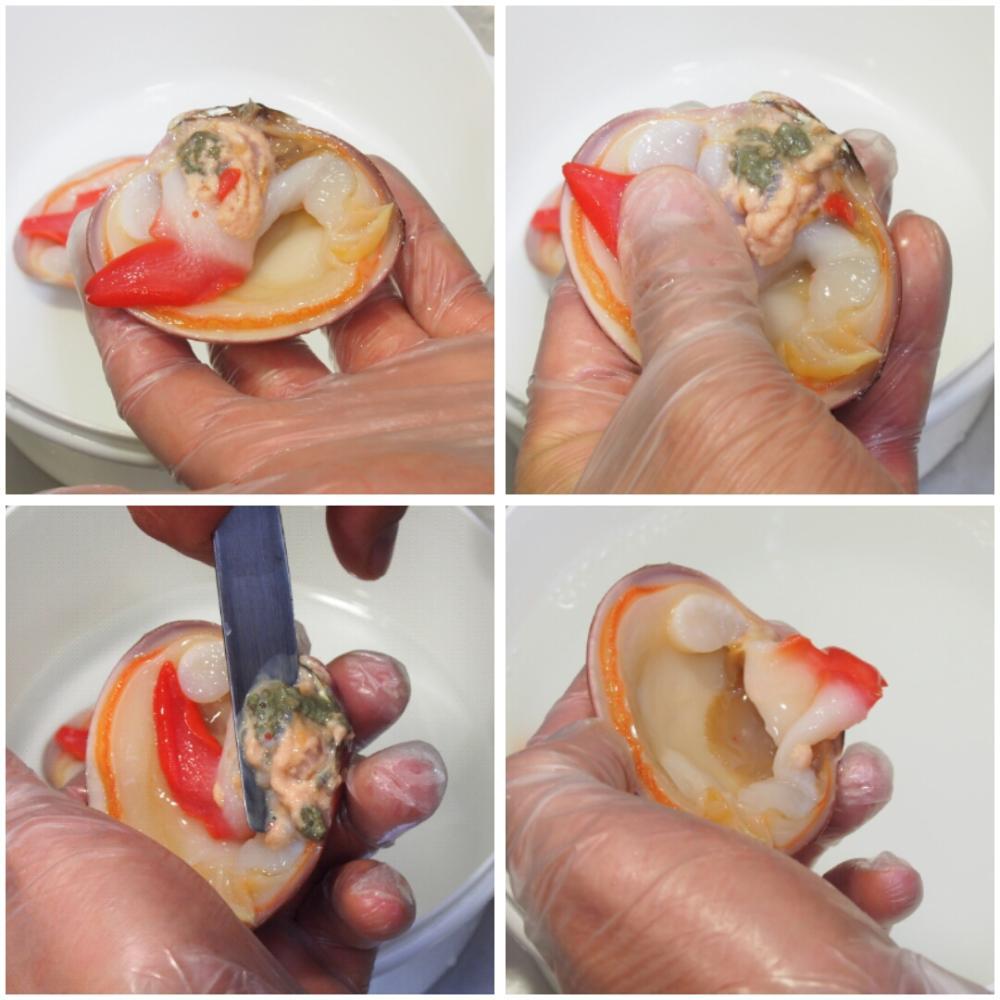 Cómo abrir y limpiar conchas finas - Paso 3