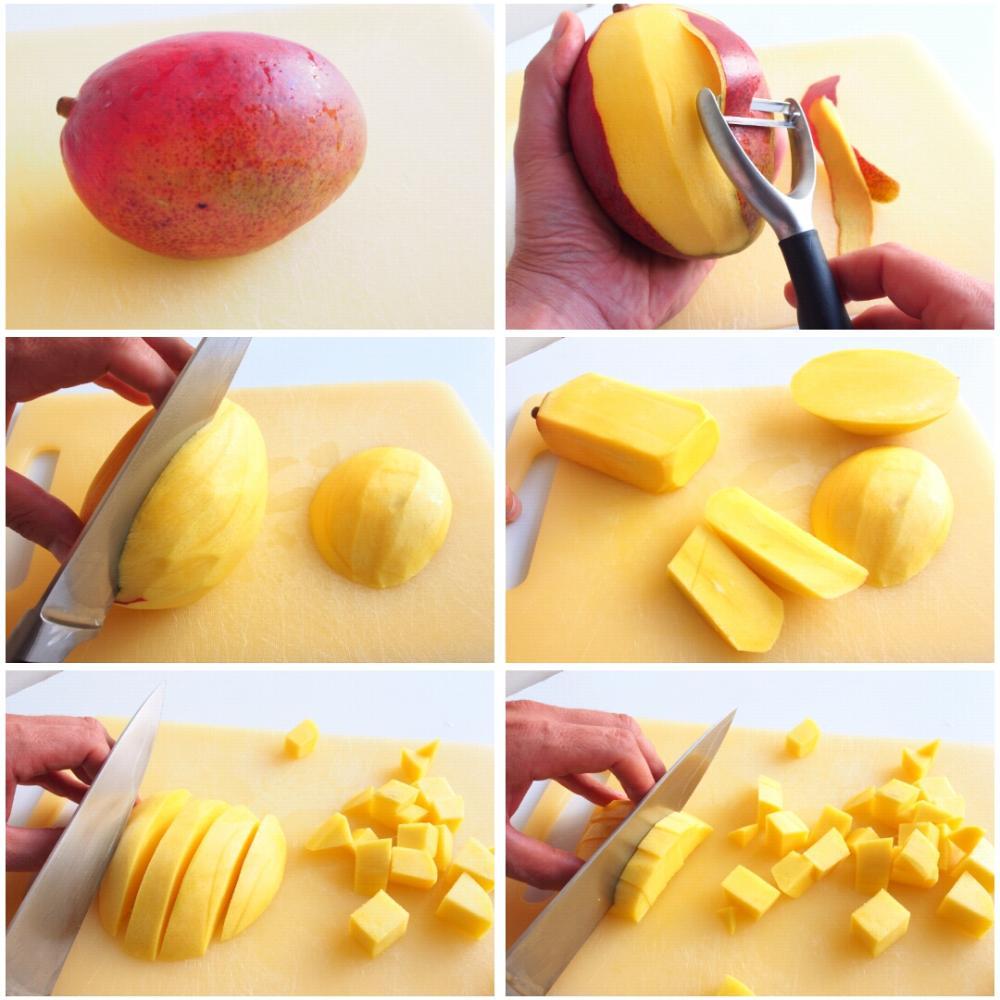 Ceviche de mango  - Paso 1
