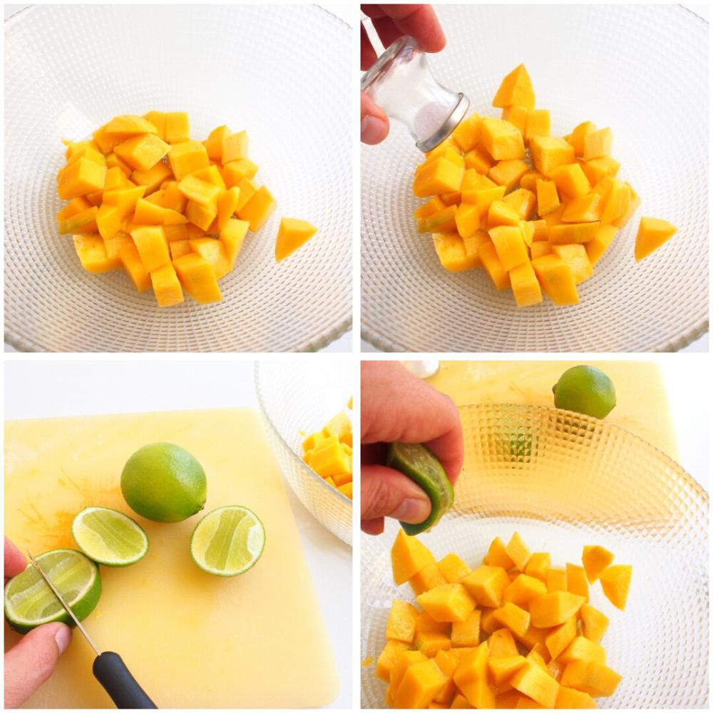 Ceviche de mango  - Paso 2