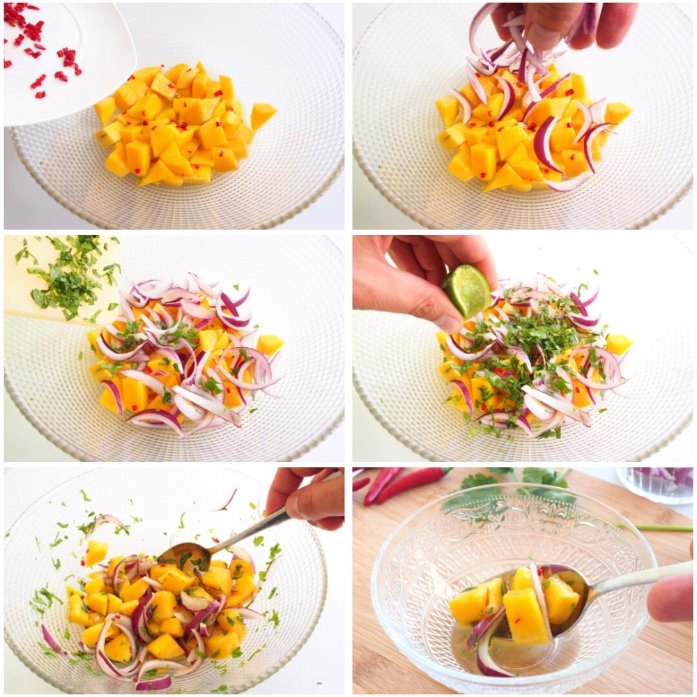Ceviche de mango  - Paso 5