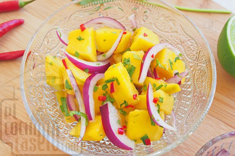 Ceviche de mango  - Paso 6