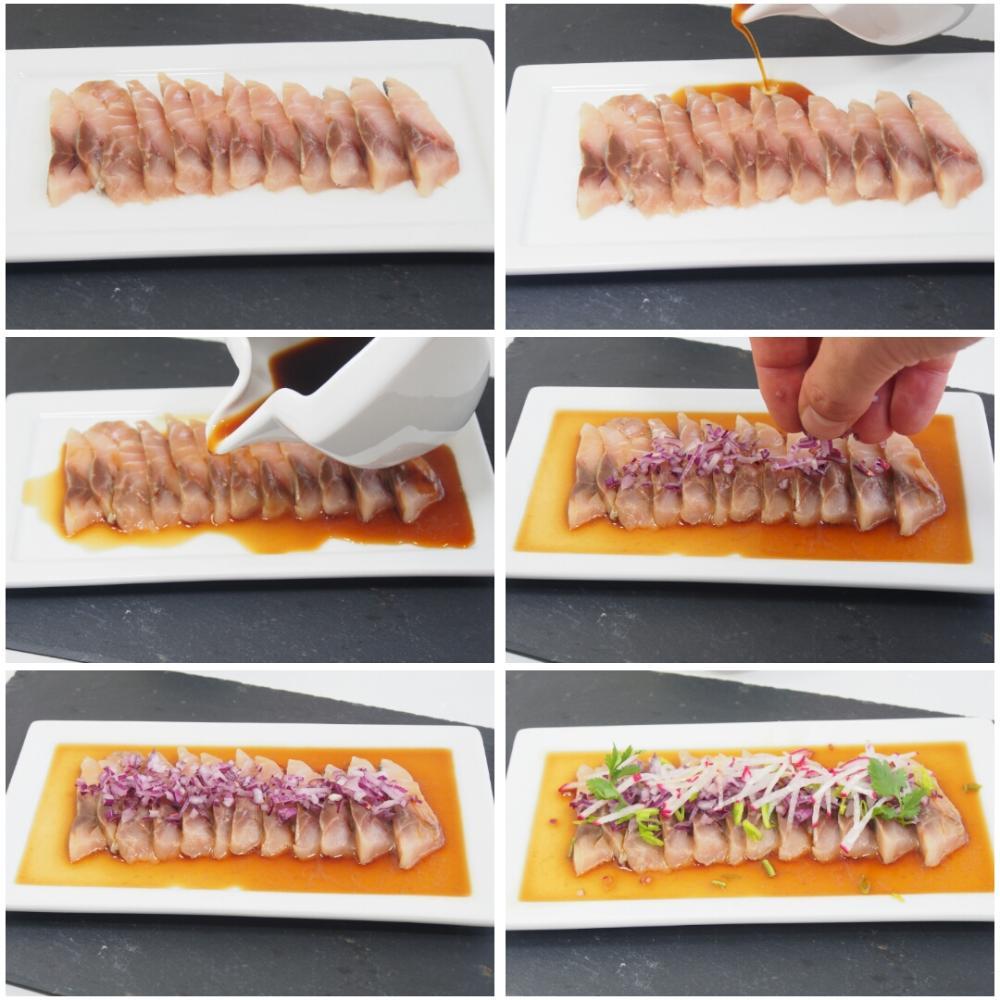 Sashimi de jurel en salsa ponzu - Paso 8