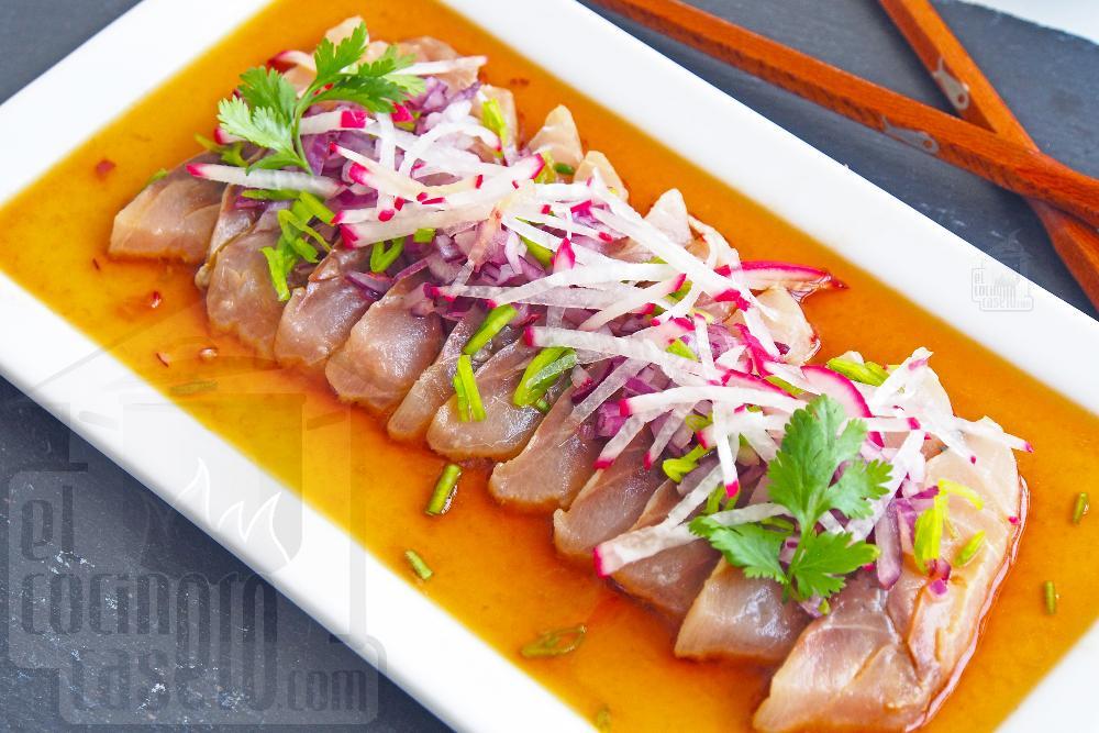 Sashimi de jurel en salsa ponzu - Paso 9
