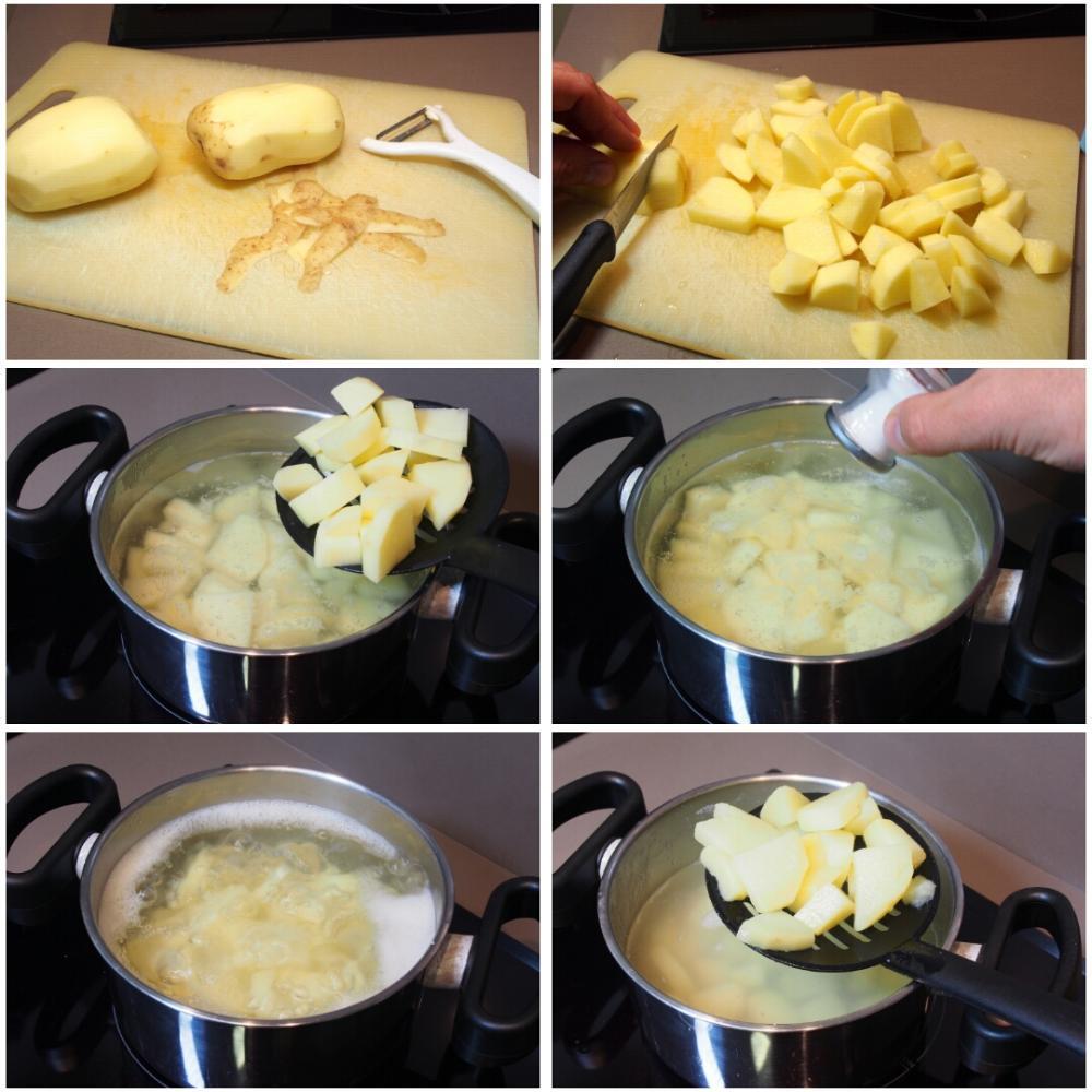 Pulpo a la llama con crema de patata - Paso 2