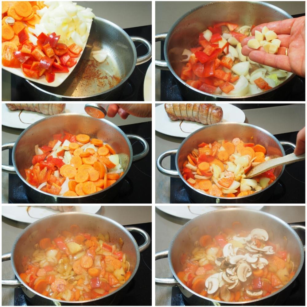 Redondo de ternera en salsa - Paso 5
