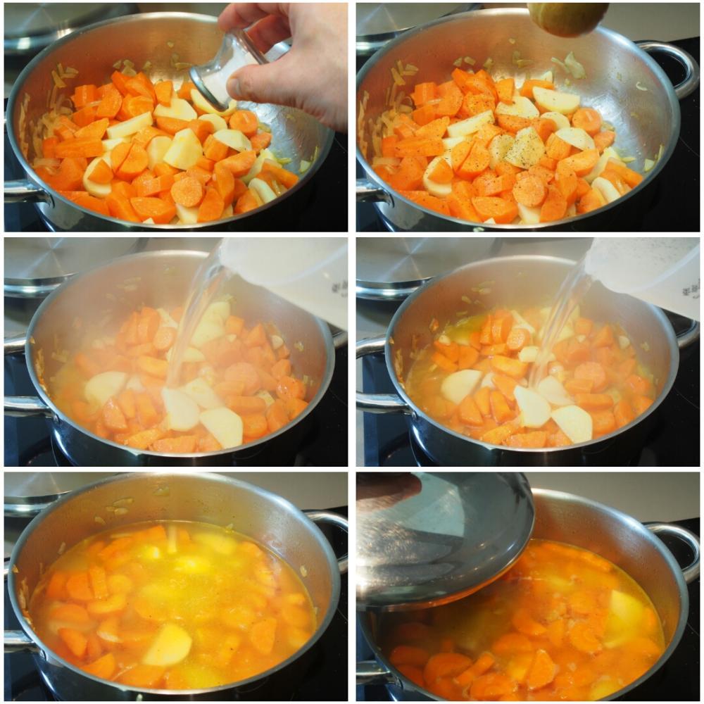 Abadejo a la plancha sobre crema de zanahoria - Paso 3
