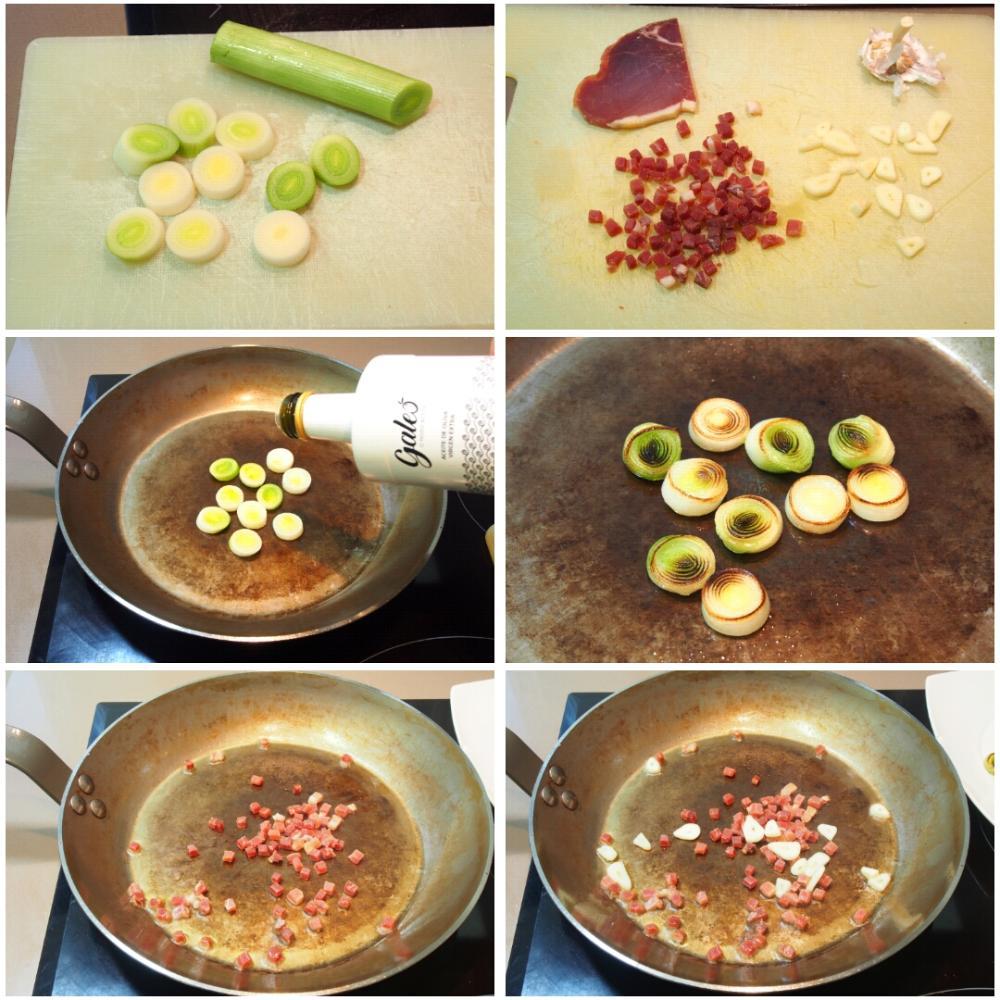 Bisaltos salteados con jamón serrano  - Paso 3