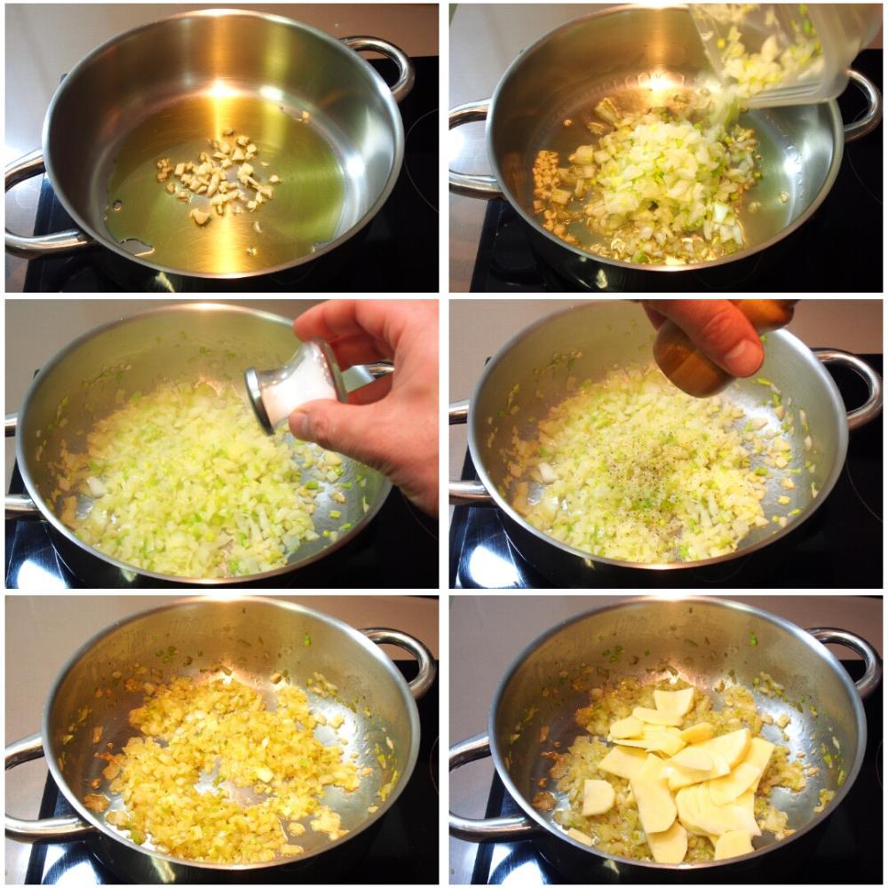 Crema de guisantes - Paso 2