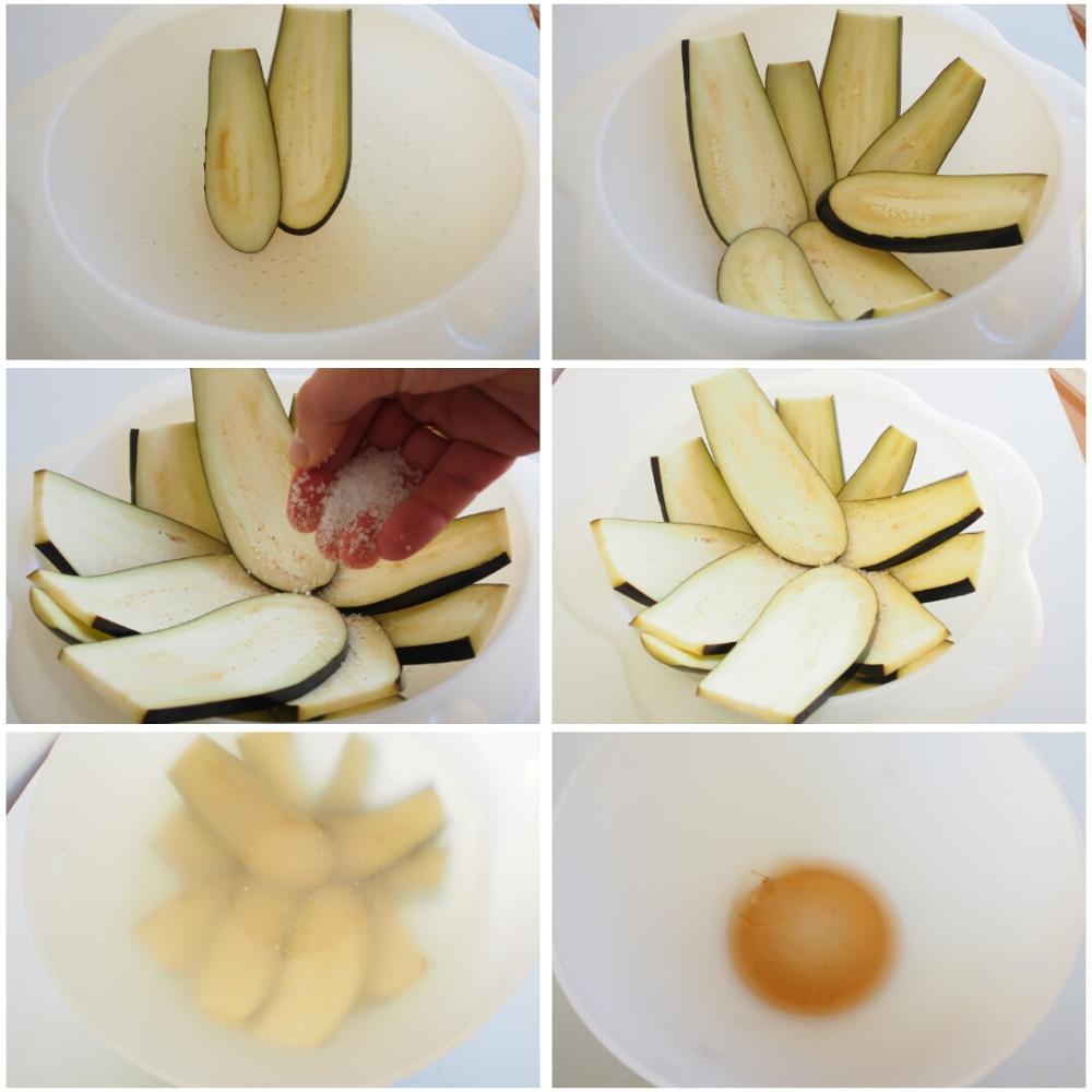 Berenjenas a la parmesana - Paso 2