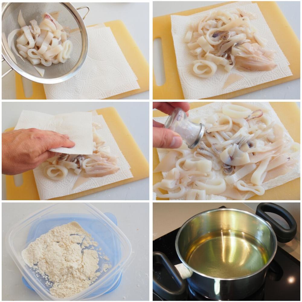 Calamares a la andaluza con mayonesa de ajo negro - Paso 5