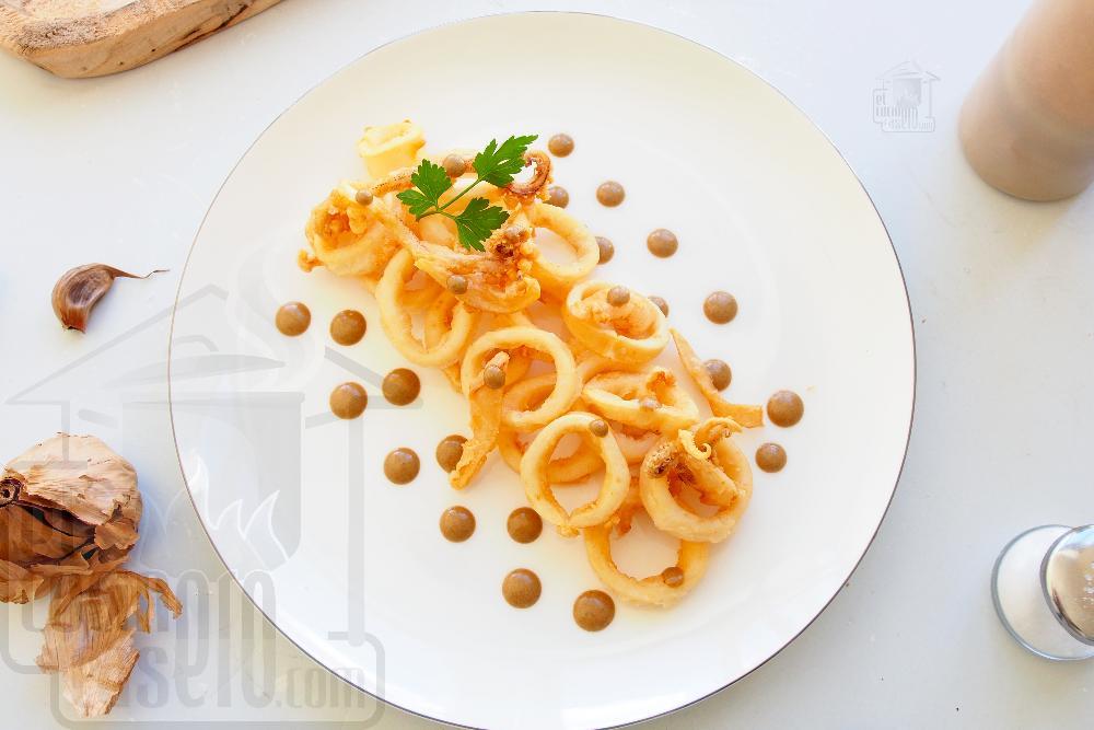 Calamares a la andaluza con mayonesa de ajo negro - Paso 8