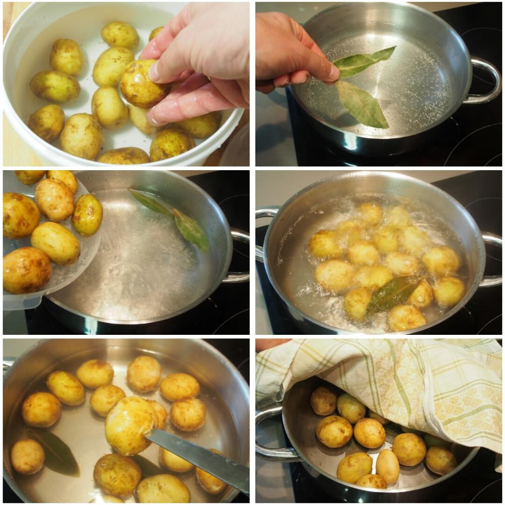 Pulpo a la plancha con cachelos y aceite de pimentón - Paso 2