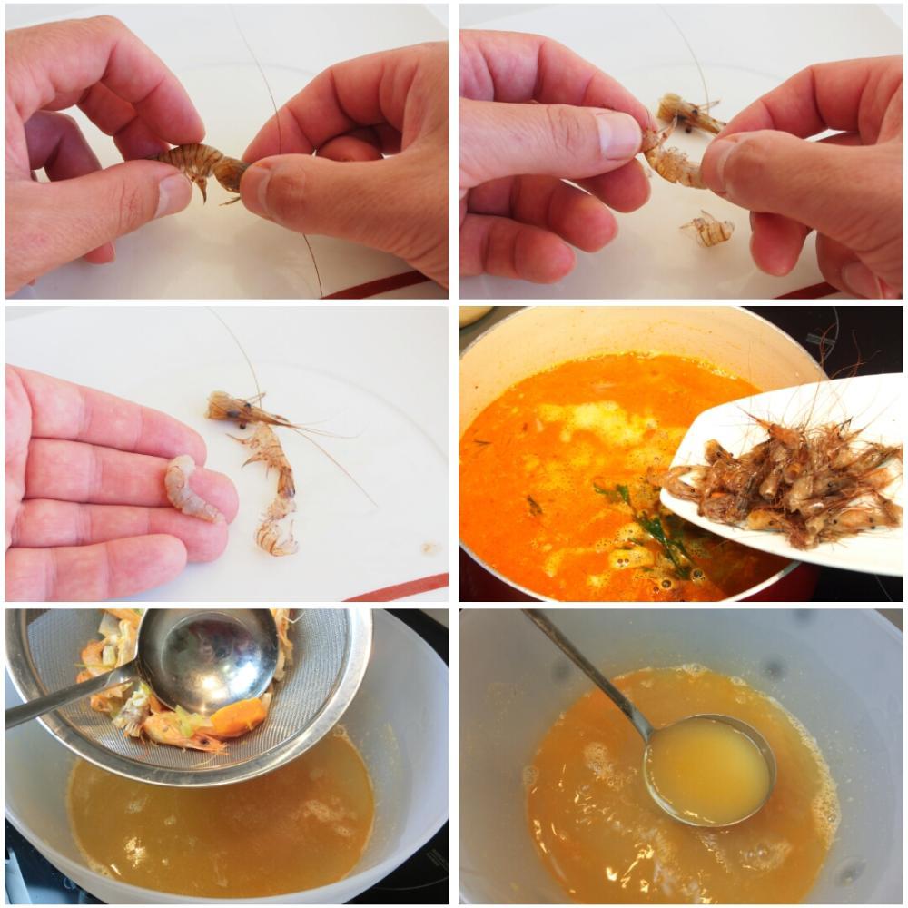 Arroz meloso de camarones gallegos, shiitake y alga codium - Paso 2