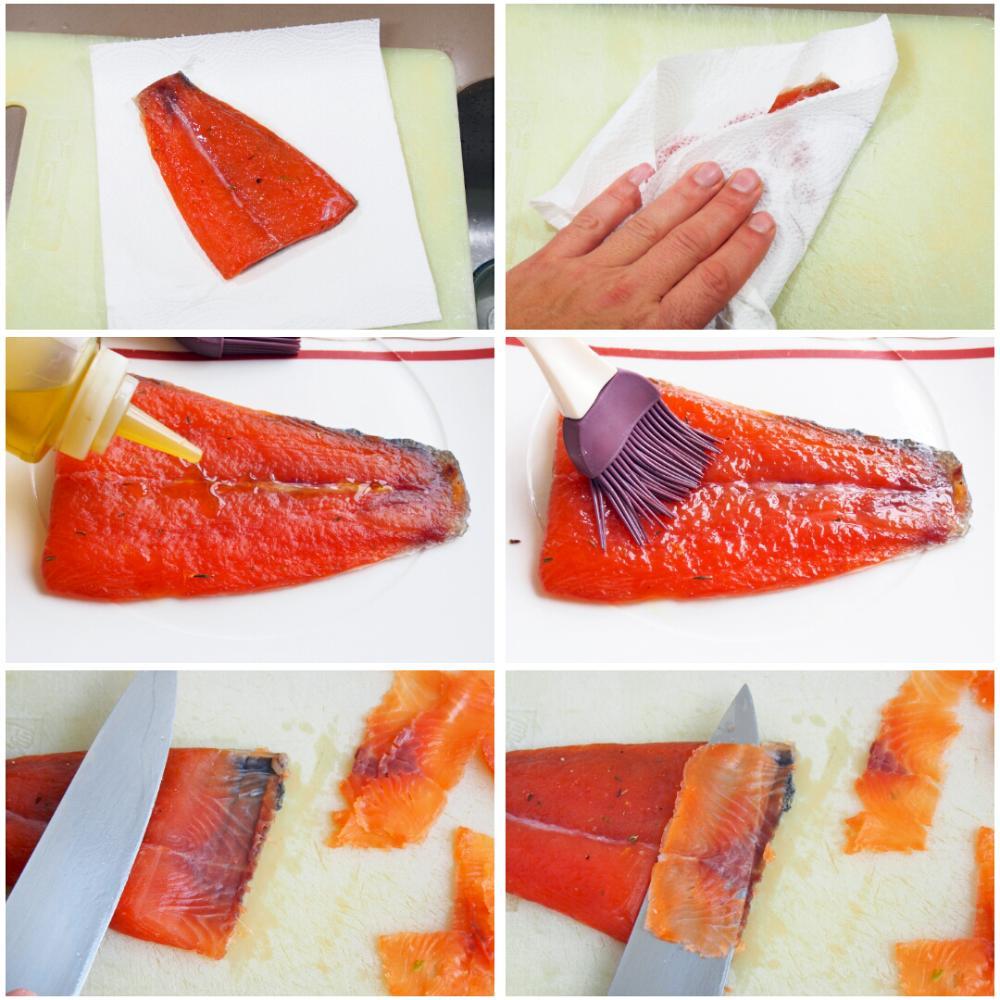 Salmón marinado con sal y azúcar - Paso 7