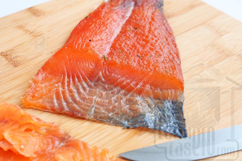 Salmón marinado con sal y azúcar - Paso 8